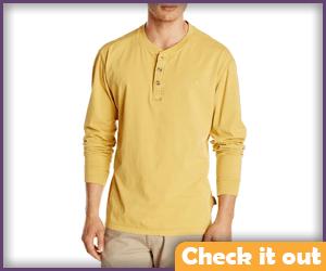 Mustard Henley Shirt.