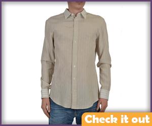 Beige Striped Shirt.