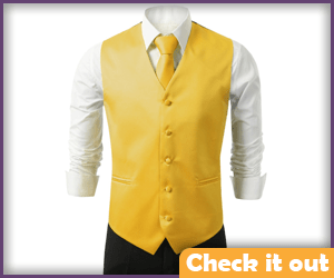 Yellow Button-Up Vest.