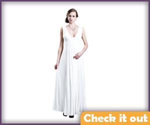 White Maxi Gown.