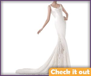 White Satin Gown.