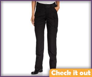 Black Tight Cargo Pants.