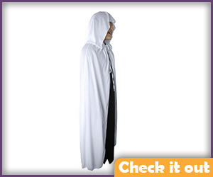 Hooded White Cape.