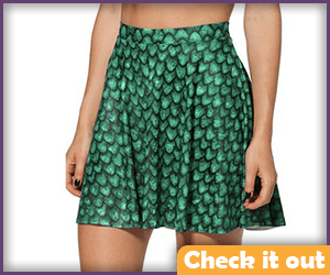 Green Scale Skirt.