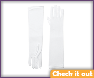 White Tall Gloves.