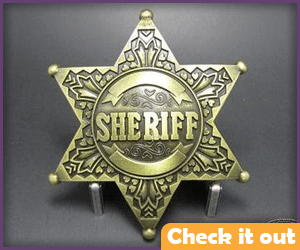 Gold Sheriff's Star.