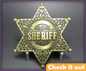 Gold Sheriff's Star.