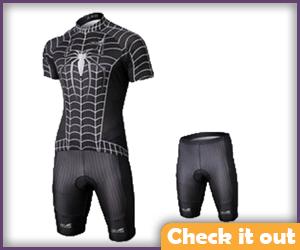 Venom Spiderman Bike Suit.
