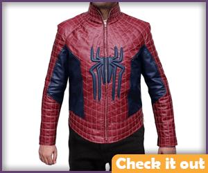 Spiderman Costume Leather Jacket.