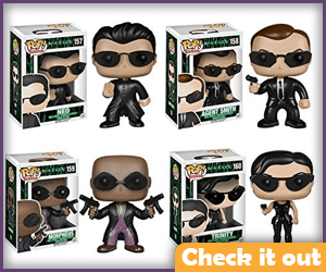 The Matrix Funko Set.