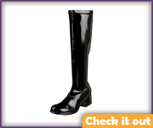 Black Patent Leather Boots.