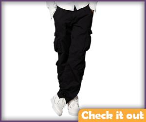 Black Cargo Pants.