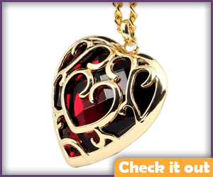 Red Heart Container Necklace.