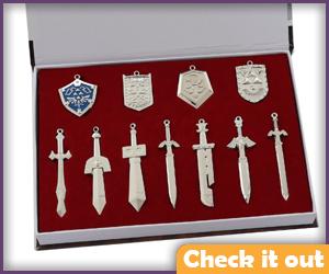 Zelda Sword Necklace Set.