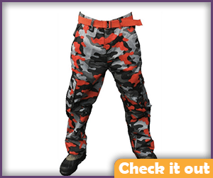 Red and Black Camo Pants.