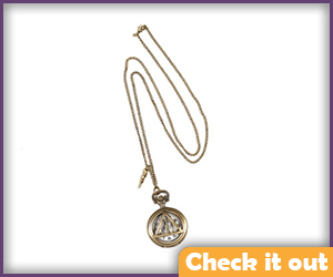 The Deathly Hallows Watch Necklace.