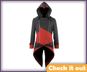 Connor Red and Black Hoodie.