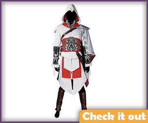 Ezio Auditore White Costume Suit.
