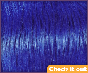 Blue Fur Fabric.