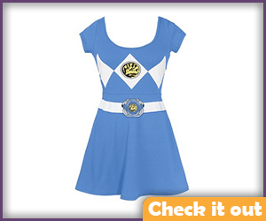 Blue Ranger Skater Dress.