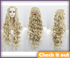 Cersei Lannister Costume Wig Curly.