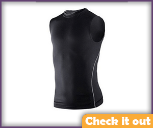 Black Sleeveless Compression Shirt.