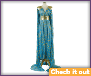 Blue and Gold Dress.