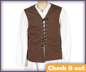 Eddard Stark Brown Lace Up Vest.