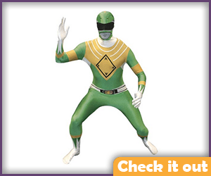 Green Power Ranger Costume Morphsuit.