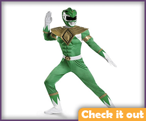 Green Power Ranger Costume Muscle Set.
