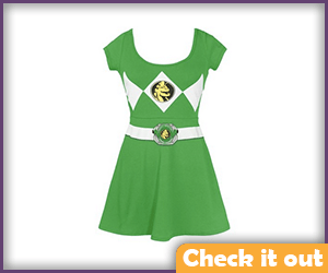 Green Ranger Skater Dress.