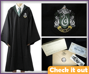Slytherin Robe with Letter.