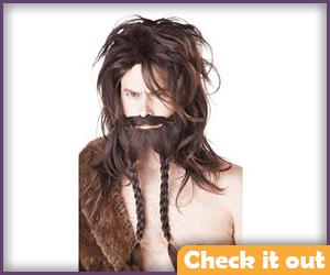 Brown Wig and Beard Set.