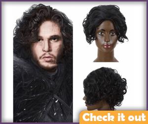 Jon Snow Costume Wig.