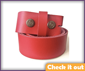 Red Belt, No Buckle.
