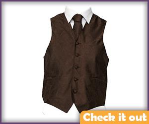 Dark Brown Vest.