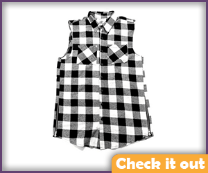 Black and White Checkered Vest.