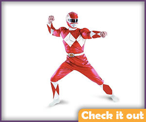 Red Power Ranger Costume Muscle Set.