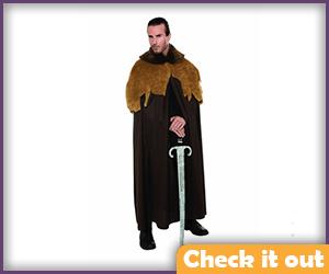 Robert Baratheon Costume Fur Cloak.