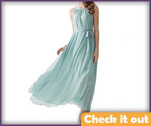 Light Blue Maxi Dress.