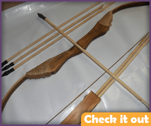 Wooden Bow and Arrow Set.