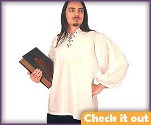 White Renaissance Shirt.