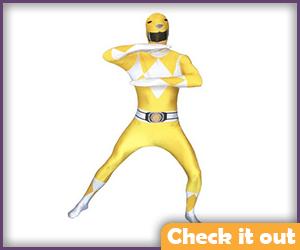 Yellow Power Ranger Costume Morphsuit.