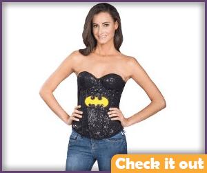 Batgirl Costume Logo Corset.