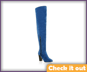 Blue Tall Boots.