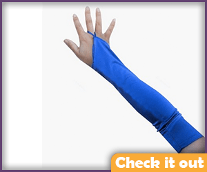 Royal Blue Long Gloves.
