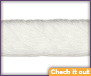 White Fur Trim.