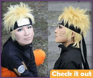 Naruto Costume Wig Set.