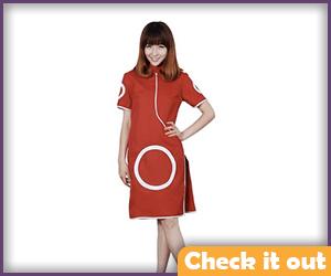 Sakura Costume First Generation Red Dress.