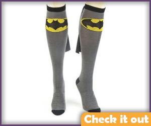 Batgirl Grey Socks.